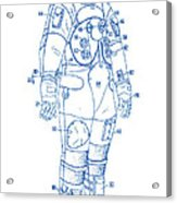 1973 Nasa Astronaut Space Suit Patent Art 2 Acrylic Print