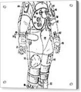 1973 Nasa Astronaut Space Suit Patent Art 3 Acrylic Print