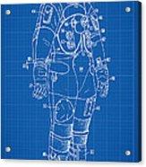 1973 Nasa Astronaut Space Suit Patent Art Acrylic Print