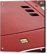 1974 Ferrari Dino 246gts Hood Emblem Acrylic Print
