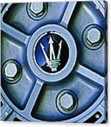 1974 Maserati Merak Wheel Emblem Acrylic Print