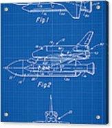 1975 Nasa Space Shuttle Patent Art 1 Acrylic Print
