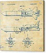 1975 Space Vehicle Patent - Vintage Acrylic Print