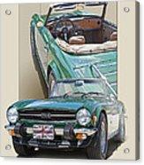 1975 Triumph Tr6 Acrylic Print