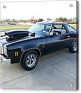 1976 Chevy Malibu Modified Muscle Car Acrylic Print