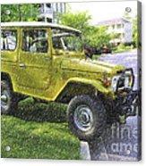 1976 Toyota Landcruiser Acrylic Print