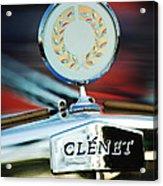 1979 Clenet Hood Ornament -176c Acrylic Print