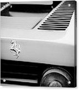 1979 Ferrari Taillight Emblem -0378bw Acrylic Print