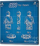 1979 Lego Minifigure Toy Patent Art 1 Acrylic Print