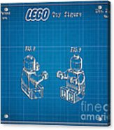 1979 Lego Minifigure Toy Patent Art 3 Acrylic Print