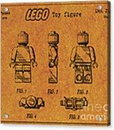 1979 Lego Minifigure Toy Patent Art 4 Acrylic Print