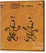 1979 Lego Minifigure Toy Patent Art 5 Acrylic Print
