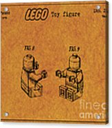 1979 Lego Minifigure Toy Patent Art 6 Acrylic Print
