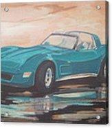 1980 Chevrolet Corvette/reflections Acrylic Print
