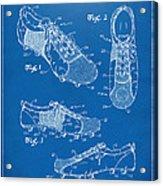 1980 Soccer Shoes Patent Artwork - Blueprint Acrylic Print