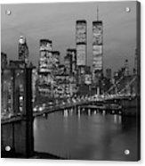 1980s New York City Lower Manhattan Acrylic Print