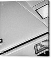 1982 Lamborghini Countach 5000s Hood Emblem -1518bw Acrylic Print