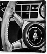 1982 Lamborghini Countach 5000s Steering Wheel Emblem -1549bw Acrylic Print