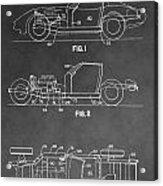 1983 Corvette Patent Acrylic Print