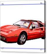 Ferrari 328 G T S 1986 Acrylic Print