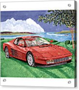 1987 Ferrari Testarosa  Acrylic Print