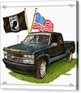 1988 Chevrolet M I A Tribute Acrylic Print by Jack Pumphrey