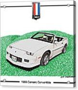 1989 Camaro Convertible Acrylic Print