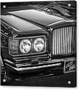 1990 Bentley Turbo R Bw Acrylic Print
