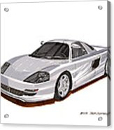 1991 Mercedes Benz C 112 Concept Acrylic Print