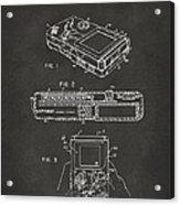 1993 Nintendo Game Boy Patent Artwork - Gray Acrylic Print