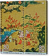 1994 Japanese Stamp Collage Acrylic Print