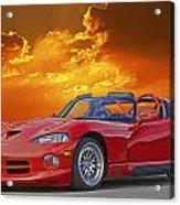 1995 Dodge Viper At Sunset Acrylic Print
