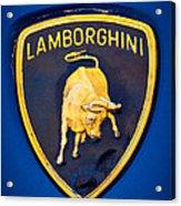 1995 Lamborghini Diablo Emblem Acrylic Print