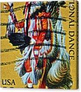 1996 Native American Stamp Acrylic Print