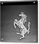 1997 Ferrari F 355 Spider Taillight Emblem -135bw Acrylic Print