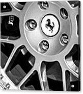 1997 Ferrari F 355 Spider Wheel Emblem -125bw Acrylic Print