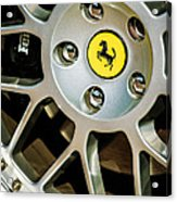 1997 Ferrari F 355 Spider Wheel Emblem -125c Acrylic Print