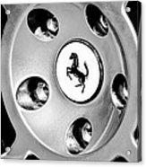 1997 Ferrari F 355 Spider Wheel Emblem -201bw Acrylic Print