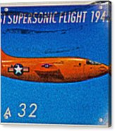 1997 First Supersonic Flight Stamp Acrylic Print