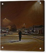 1997-my First Snowy Winter Acrylic Print by Thu Nguyen