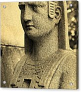 19th Century Granite Stone Sepia Sphinx Bust Poster Look Usa Acrylic Print