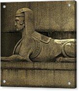 19th Century Granite Stone Sphinx Sepia Profile Poster Look Usa Acrylic Print