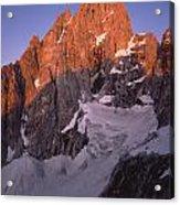 1m9380-sunrise On The North Face Of Grand Teton Acrylic Print