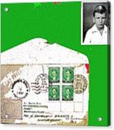 1st Day Cover 1950 Manila Philippine Islands David Lee Guss 1949 Passport Photo  Collage 1950-2012 Acrylic Print