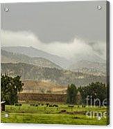 1st Day Of Rain Great Colorado Flood Acrylic Print