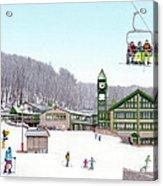 1st Snow At Hidden Valley Acrylic Print