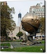 1w T C And The W T C Fountain Sphere Acrylic Print