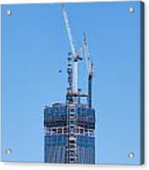 1wtc Antenna Erection Acrylic Print