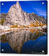 Prusik Peak On Gnome Tarn Acrylic Print