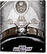 1915 Chevrolet Touring Hood Ornament - Moto Meter Acrylic Print